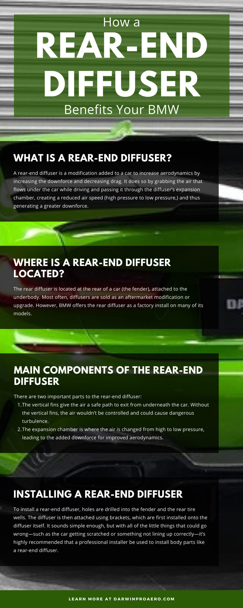 How a Rear-End Diffuser Benefits Your BMW