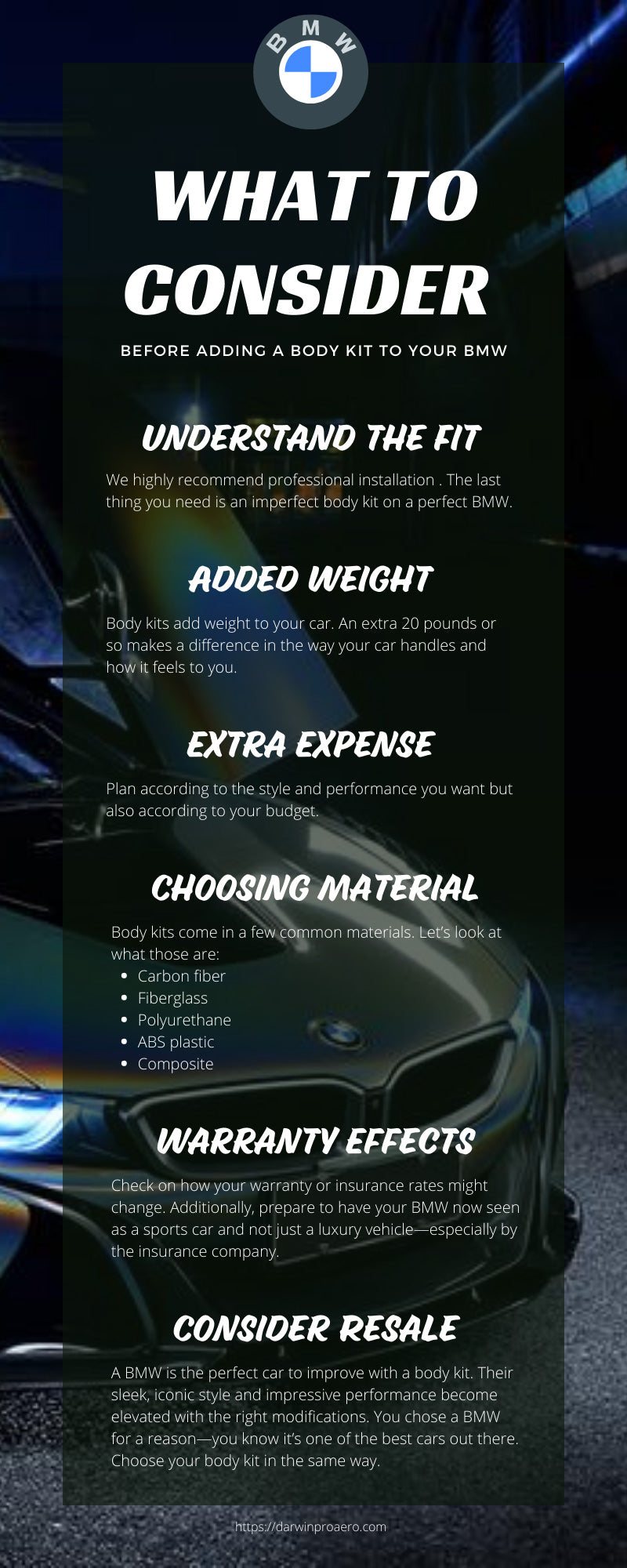 What To Consider Before Adding a Body Kit to Your BMW