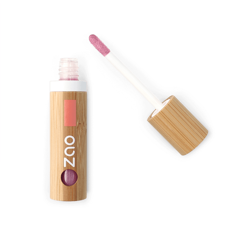 This image shows the ZAO Organic Vegan and Refillable Makeup Australia Online Retail Store Lip Gloss - Bamboo Case Product Pink 011