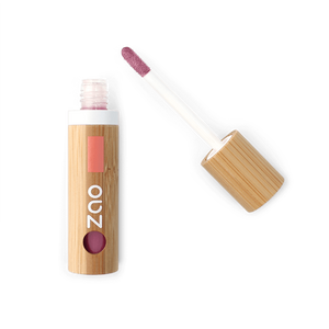 This image shows the ZAO Cosmetics and ZAO Natural Organic Mineral Vegan Cruelty-Free (like Inika, Bobbi Brown and Nude By Nature) and Refillable Bamboo Makeup Australia Online Retail Store Lip Gloss - Bamboo Case Product Antique Pink 014