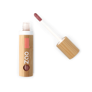 This image shows the ZAO Makeup  Lip Gloss - Bamboo Case Product Glam Brown 015