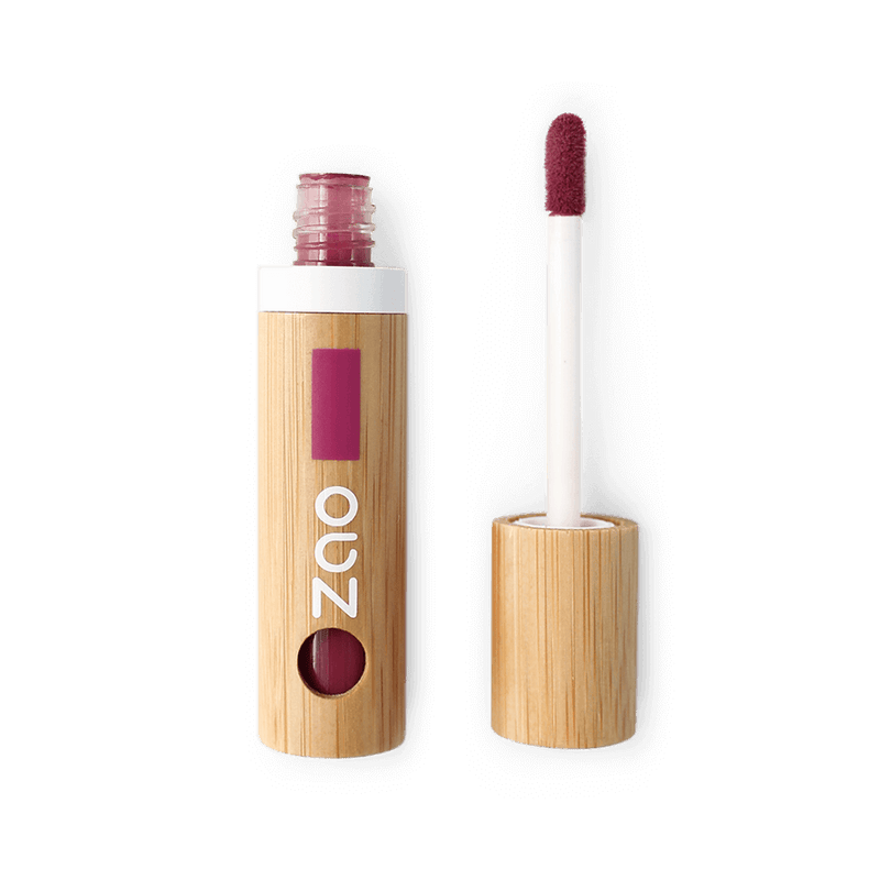 This image shows the ZAO Makeup  Lip Polish - Bamboo Case Product Cherry Red 036