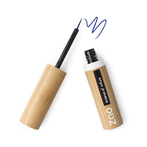 This image shows the ZAO Cosmetics and ZAO Natural Organic Mineral Vegan Cruelty-Free (like Inika, Bobbi Brown and Nude By Nature) and Refillable Bamboo Makeup Australia Online Retail Store Eyeliner - Bamboo Case Product Electric Blue Brush Tip 072