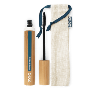 This image shows the ZAO Cosmetics and ZAO Natural Organic Mineral Vegan Cruelty-Free (like Inika, Bobbi Brown and Nude By Nature) and Refillable Bamboo Makeup Australia Online Retail Store Volume and Sheathing Mascara - Bamboo Case Product Ebony 085