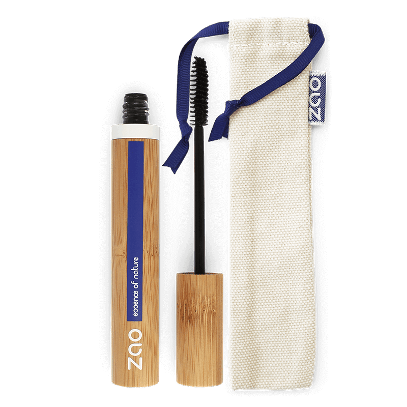This image shows the ZAO Cosmetics and ZAO Natural Organic Mineral Vegan Cruelty-Free (like Inika, Bobbi Brown and Nude By Nature) and Refillable Bamboo Makeup Australia Online Retail Store Aloe Vera Mascara - Bamboo Case Product Black 090