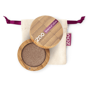This image shows the ZAO Cosmetics and ZAO Natural Organic Mineral Vegan Cruelty-Free (like Inika, Bobbi Brown and Nude By Nature) and Refillable Bamboo Makeup Australia Online Retail Store Pearly Eyeshadow - Bamboo Case Product Brown Grey 107