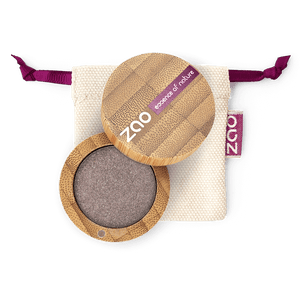 This image shows the ZAO Makeup  Pearly Eyeshadow - Bamboo Case Product Brown Grey 107
