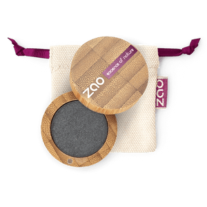 This image shows the ZAO Makeup  Pearly Eyeshadow - Bamboo Case Product Metal Grey 110