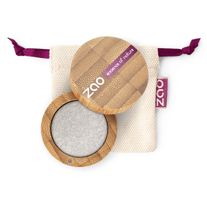 This image shows the ZAO Makeup  Pearly Eyeshadow - Bamboo Case Product Silver 114