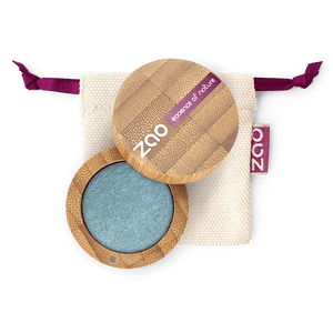 This image shows the ZAO Makeup  Pearly Eyeshadow - Bamboo Case Product Denim Blue 116