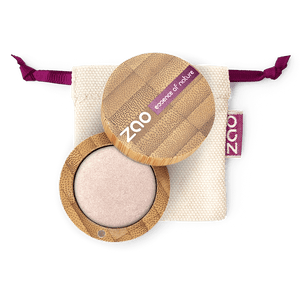 This image shows the ZAO Makeup  Pearly Eyeshadow - Bamboo Case Product Pearly Ivory 121