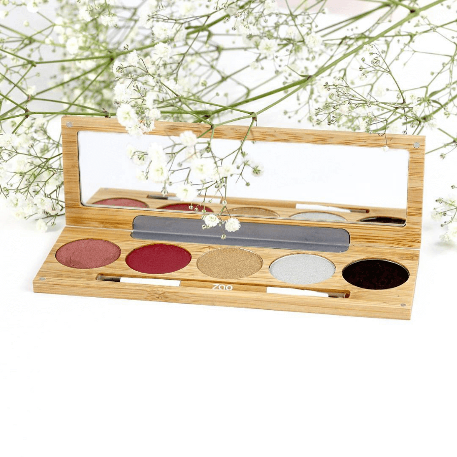 This image shows the ZAO Cosmetics and ZAO Natural Organic Mineral Vegan Cruelty-Free (like Inika, Bobbi Brown and Nude By Nature) and Refillable Bamboo Makeup Australia Online Retail Store Winter Chic Palette