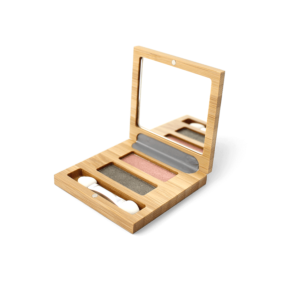 "This image shows the ZAO Natural Organic Mineral Vegan Cruelty-Free (like Inika, Bobbi Brown and Nude By Nature) and Refillable Bamboo Makeup Australia Online Retail Store Duo ""Flower"" Eyeshadow Mini Palette 153"