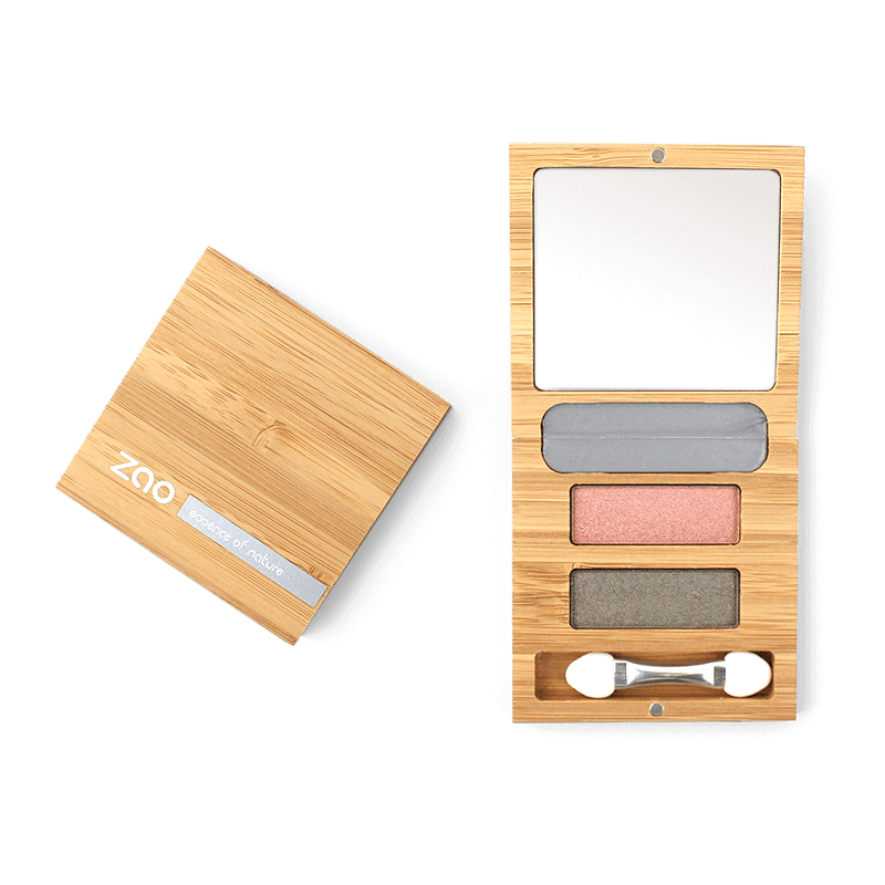 "This image shows the ZAO Cosmetics and ZAO Natural Organic Mineral Vegan Cruelty-Free (like Inika, Bobbi Brown and Nude By Nature) and Refillable Bamboo Makeup Australia Online Retail Store Duo ""Flower"" Eyeshadow Mini Palette 153"