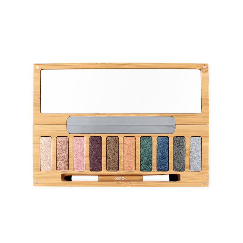 This image shows the ZAO Cosmetics and ZAO Natural Organic Mineral Vegan Cruelty-Free (like Inika, Bobbi Brown and Nude By Nature) and Refillable Bamboo Makeup Australia Online Retail Store Clin d'Oeil Palette