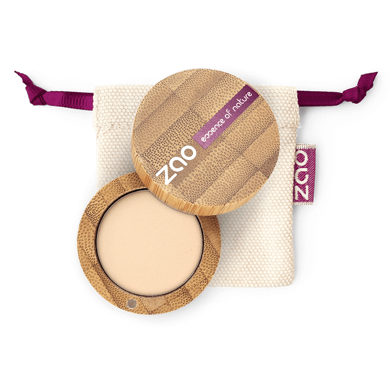 This image shows the ZAO Organic Vegan and Refillable Makeup Australia Online Retail Store Matt Eyeshadow - Bamboo Case Product Ivory 201