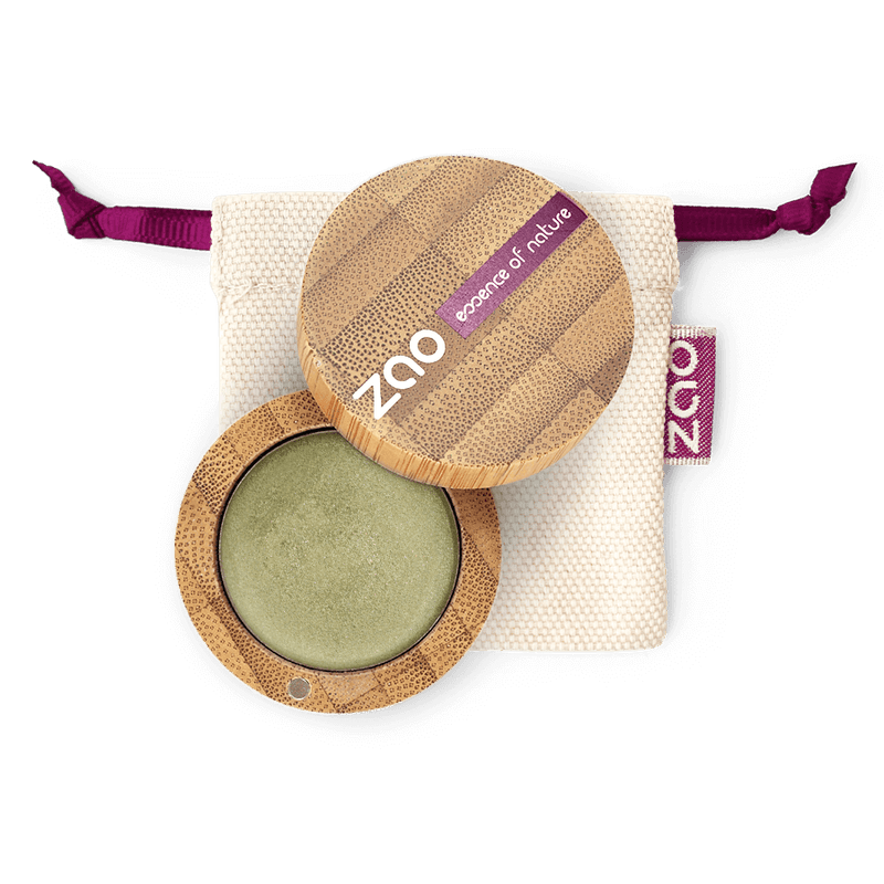 This image shows the ZAO Organic Vegan and Refillable Makeup Australia Online Retail Store Cream Eyeshadow - Bamboo Case Product Bamboo 252