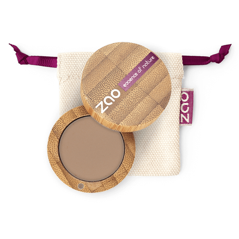 This image shows the ZAO Organic Vegan and Refillable Makeup Australia Online Retail Store Eyebrow Powder - Bamboo Case Product Blond 260