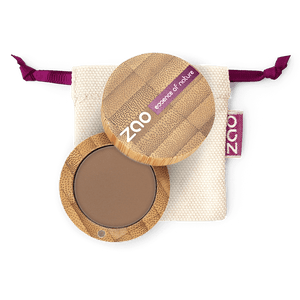 This image shows the ZAO Cosmetics and ZAO Natural Organic Mineral Vegan Cruelty-Free (like Inika, Bobbi Brown and Nude By Nature) and Refillable Bamboo Makeup Australia Online Retail Store Eyebrow Powder - Bamboo Case Product Ash Blond 261