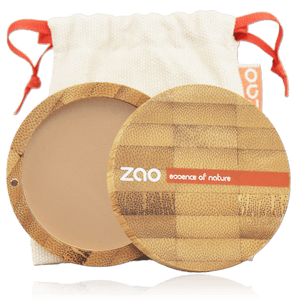 This image shows the ZAO Cosmetics and ZAO Natural Organic Mineral Vegan Cruelty-Free (like Inika, Bobbi Brown and Nude By Nature) and Refillable Bamboo Makeup Australia Online Retail Store Compact Powder - Bamboo Case Product Beige Orange 302