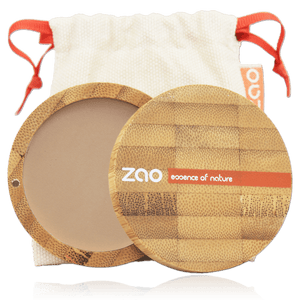 This image shows the ZAO Cosmetics and ZAO Natural Organic Mineral Vegan Cruelty-Free (like Inika, Bobbi Brown and Nude By Nature) and Refillable Bamboo Makeup Australia Online Retail Store Compact Powder - Bamboo Case Product Cappuccino 304