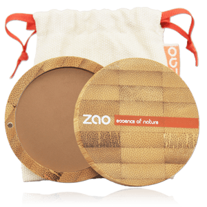 This image shows the ZAO Cosmetics and ZAO Natural Organic Mineral Vegan Cruelty-Free (like Inika, Bobbi Brown and Nude By Nature) and Refillable Bamboo Makeup Australia Online Retail Store Compact Powder - Bamboo Case Product Milk Chocolate 305