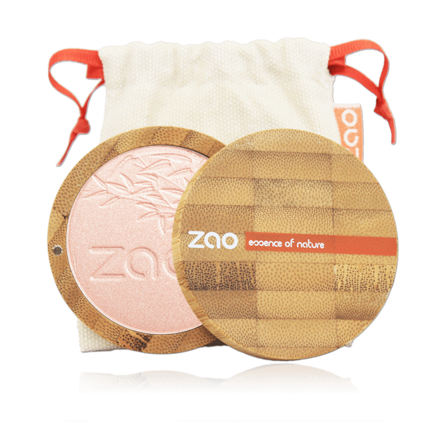 This image shows the ZAO Makeup  Highlighter - Shine up Powder - Bamboo Case Product
