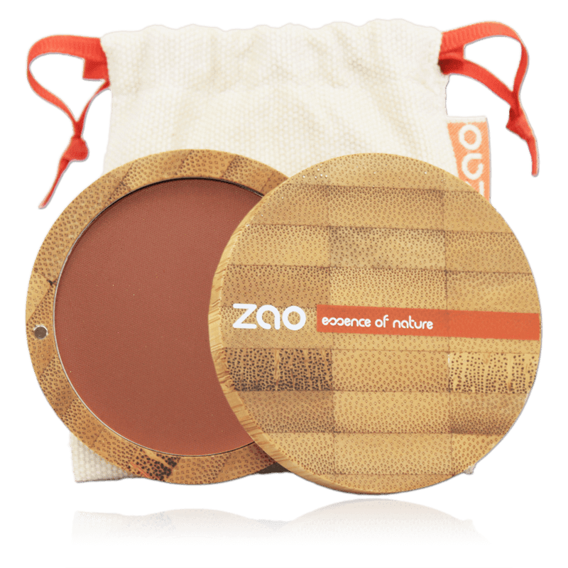 This image shows the ZAO Natural Organic Mineral Vegan Cruelty-Free (like Inika, Bobbi Brown and Nude By Nature) and Refillable Bamboo Makeup Australia Online Retail Store Blush - Bamboo Case Product Brown Orange 321