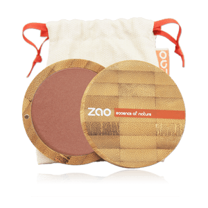 This image shows the ZAO Cosmetics and ZAO Natural Organic Mineral Vegan Cruelty-Free (like Inika, Bobbi Brown and Nude By Nature) and Refillable Bamboo Makeup Australia Online Retail Store Blush - Bamboo Case Product Golden Coral 325