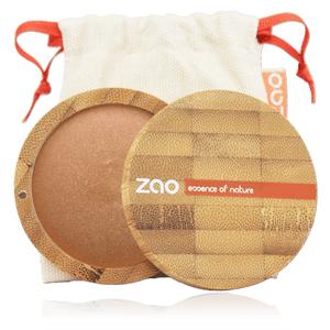 This image shows the ZAO Makeup  Bronzer - Mineral Cooked Powder - Bamboo Case Product Bronze Copper 342