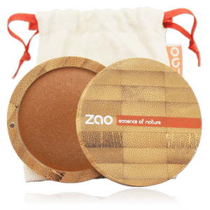 This image shows the ZAO Natural Organic Mineral Vegan Cruelty-Free (like Inika, Bobbi Brown and Nude By Nature) and Refillable Bamboo Makeup Australia Online Retail Store Bronzer - Mineral Cooked Powder - Bamboo Case Product Golden Bronze 343