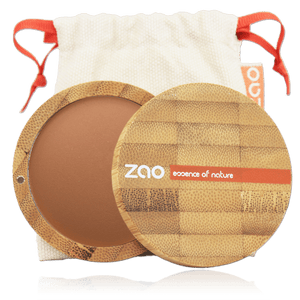 This image shows the ZAO Makeup  Bronzer - Mineral Cooked Powder - Bamboo Case Product Chocolate 344