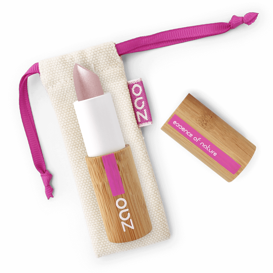 This image shows the ZAO Natural Organic Mineral Vegan Cruelty-Free (like Inika, Bobbi Brown and Nude By Nature) and Refillable Bamboo Makeup Australia Online Retail Store Pearly Lipstick - Bamboo Case Product Amethyst 401