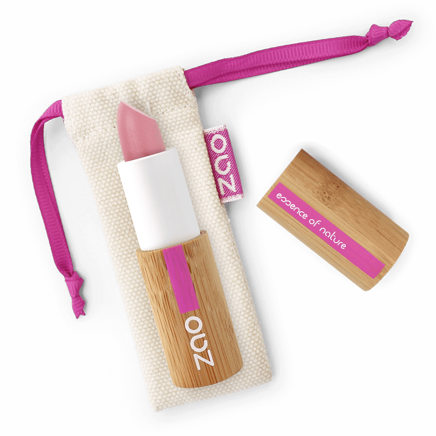 This image shows the ZAO Natural Organic Mineral Vegan Cruelty-Free (like Inika, Bobbi Brown and Nude By Nature) and Refillable Bamboo Makeup Australia Online Retail Store Pearly Lipstick - Bamboo Case Product Pink 402