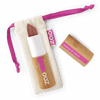 This image shows the ZAO Cosmetics and ZAO Natural Organic Mineral Vegan Cruelty-Free (like Inika, Bobbi Brown and Nude By Nature) and Refillable Bamboo Makeup Australia Online Retail Store Pearly Lipstick - Bamboo Case Product Brown Red 404