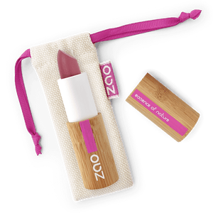 This image shows the ZAO Natural Organic Mineral Vegan Cruelty-Free (like Inika, Bobbi Brown and Nude By Nature) and Refillable Bamboo Makeup Australia Online Retail Store Ultra Matt Soft Touch Lipstick - Bamboo Case Product Purple Pink 431