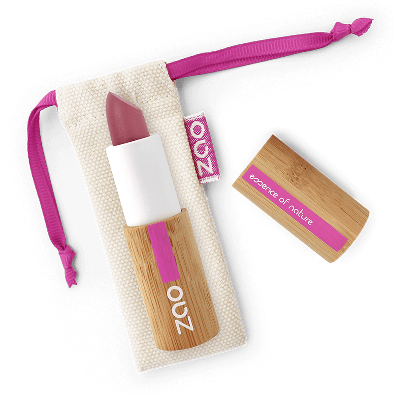 This image shows the ZAO Makeup  Soft Touch Lipstick - Bamboo Case Product Purple Pink 431