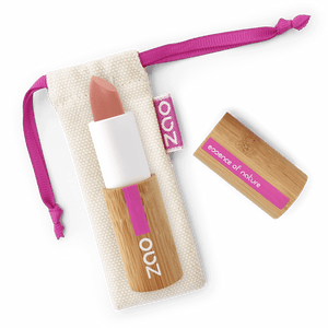 This image shows the ZAO Cosmetics and ZAO Natural Organic Mineral Vegan Cruelty-Free (like Inika, Bobbi Brown and Nude By Nature) and Refillable Bamboo Makeup Australia Online Retail Store Ultra Matt Soft Touch Lipstick - Bamboo Case Product Nude Sensation 433
