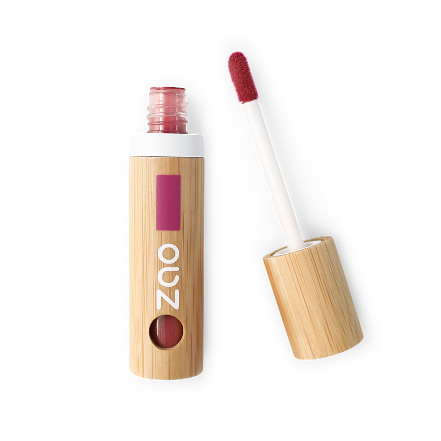 This image shows the ZAO Cosmetics and ZAO Natural Organic Mineral Vegan Cruelty-Free (like Inika Bobbi Brown Nude for Nature) and Refillable Bamboo Makeup Australia Online Retail Store Lip Ink Tango 440 Full Bamboo Product & Pouch