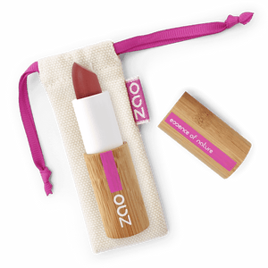 This image shows the ZAO Cosmetics and ZAO Natural Organic Mineral Vegan Cruelty-Free (like Inika, Bobbi Brown and Nude By Nature) and Refillable Bamboo Makeup Australia Online Retail Store Matt Lipstick - Bamboo Case Product Dark Red 465