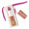 This image shows the ZAO Makeup  Matt Lipstick - Bamboo Case Product Satin Dark Purple 470