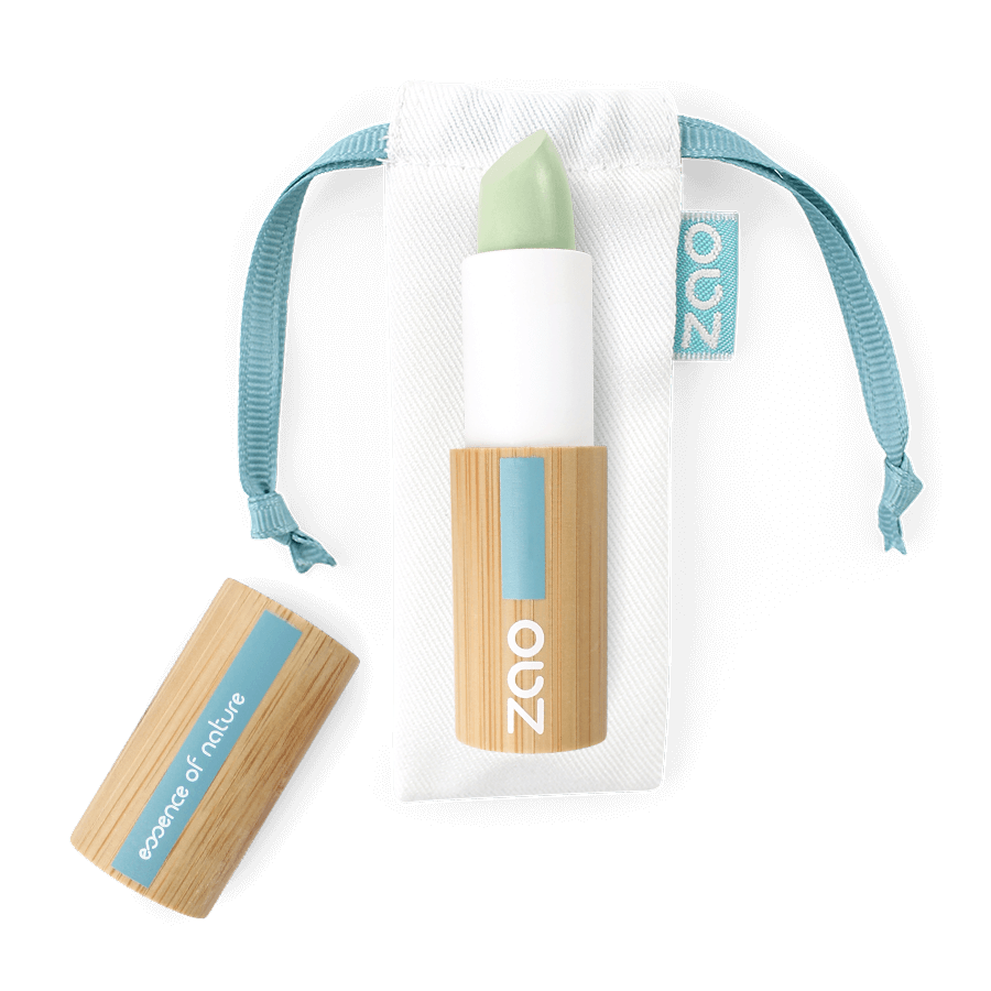 This image shows the ZAO Cosmetics and ZAO Natural Organic Mineral Vegan Cruelty-Free (like Inika, Bobbi Brown and Nude By Nature) and Refillable Bamboo Makeup Australia Online Retail Store Concealer - Corrector - Bamboo Case Product Green Anti Redness 499