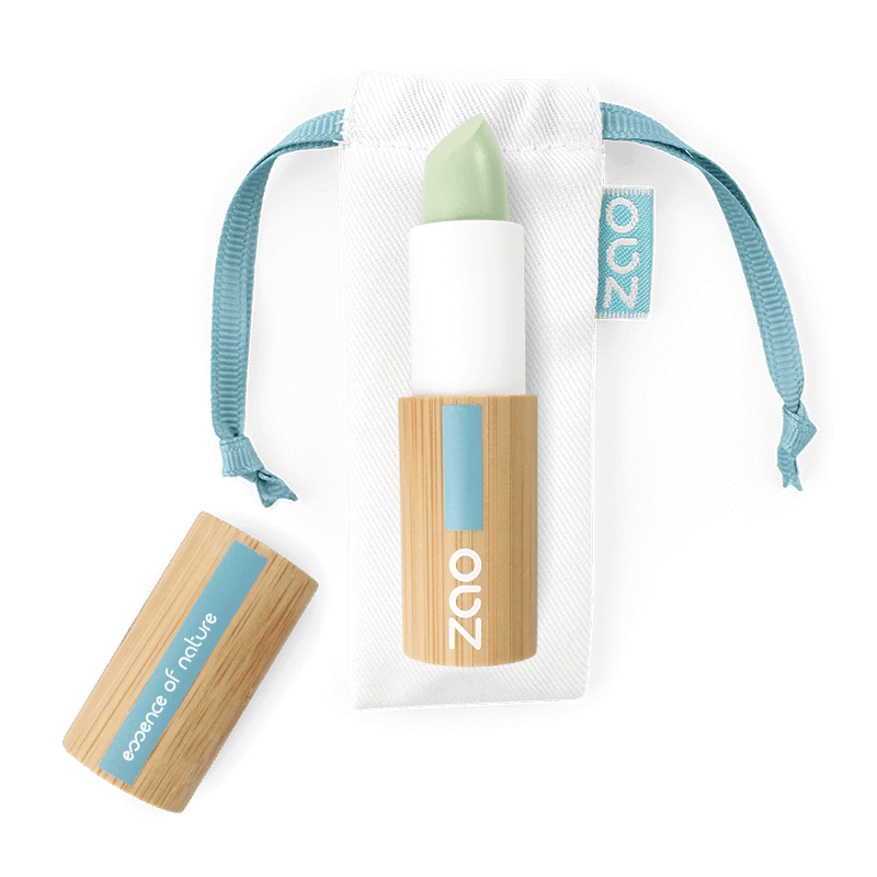 This image shows the ZAO Cosmetics and ZAO Natural Organic Mineral Vegan Cruelty-Free (like Inika, Bobbi Brown and Nude By Nature) and Refillable Bamboo Makeup Australia Online Retail Store Concealer - Corrector - Refill Green Anti Redness 499