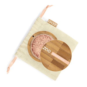 This image shows the ZAO Makeup  Loose Powder - Mineral Silk Foundation - Bamboo Case Product Pinkish Beige 502