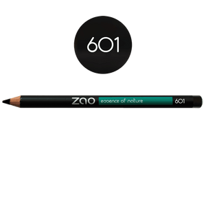 This image shows the ZAO Cosmetics and ZAO Natural Organic Mineral Vegan Cruelty-Free (like Inika, Bobbi Brown and Nude By Nature) and Refillable Bamboo Makeup Australia Online Retail Store Pencil Black 601