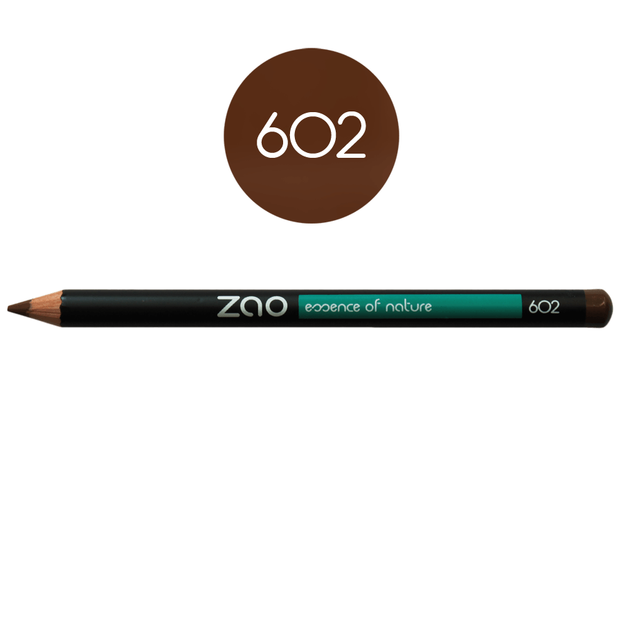 This image shows the ZAO Natural Organic Mineral Vegan Cruelty-Free (like Inika, Bobbi Brown and Nude By Nature) and Refillable Bamboo Makeup Australia Online Retail Store Pencil Dark Brown 602