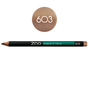 This image shows the ZAO Cosmetics and ZAO Natural Organic Mineral Vegan Cruelty-Free (like Inika, Bobbi Brown and Nude By Nature) and Refillable Bamboo Makeup Australia Online Retail Store Pencil Beige Nude 603