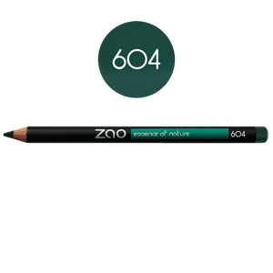 This image shows the ZAO Cosmetics and ZAO Natural Organic Mineral Vegan Cruelty-Free (like Inika, Bobbi Brown and Nude By Nature) and Refillable Bamboo Makeup Australia Online Retail Store Pencil Dark Green 604