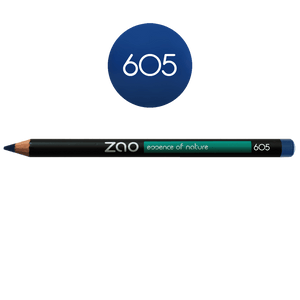 This image shows the ZAO Cosmetics and ZAO Natural Organic Mineral Vegan Cruelty-Free (like Inika, Bobbi Brown and Nude By Nature) and Refillable Bamboo Makeup Australia Online Retail Store Pencil Midnight Blue 605
