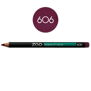 This image shows the ZAO Cosmetics and ZAO Natural Organic Mineral Vegan Cruelty-Free (like Inika, Bobbi Brown and Nude By Nature) and Refillable Bamboo Makeup Australia Online Retail Store Pencil Plum 606